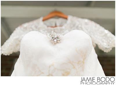 The Castle at Skylands Manor bride wedding dress