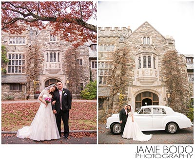 bride groom skylands castle car