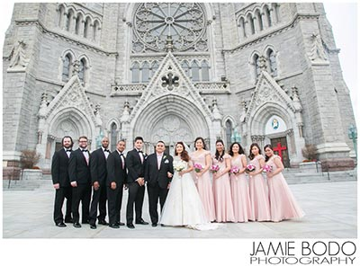newark cathedral basilica of the sacred heart wedding party