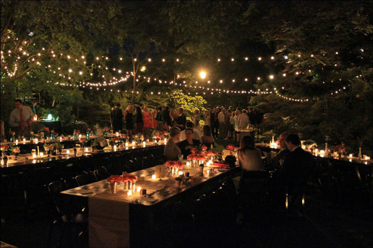 String Lights For Reception : Full Service Catering - New Jersey - New York - Pennsylvania - Frungillo Caterers