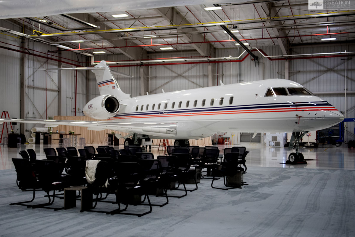 corporate meetings and events airplane jet
