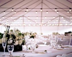 005-beautiful-rustic-tent-wedding-with-string-lights