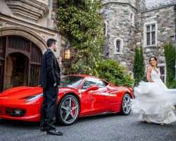 48-skylands-castle-wedding-car