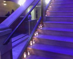 candles-stairs-corporate-event