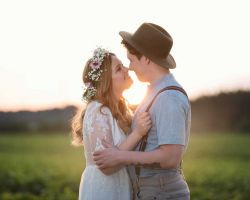 cute-bride-groom-in-field-wedding
